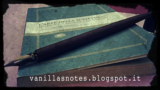 L'arte della scrittura di Robert Louis Stevenson su vanillasnotes