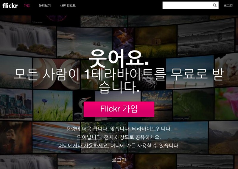 Flickr 홈페이지