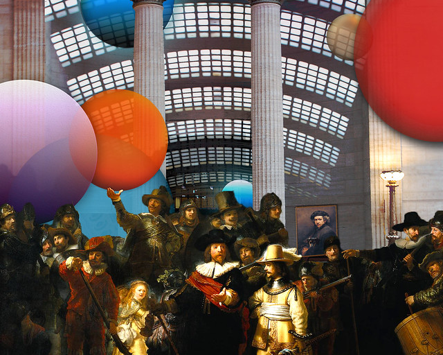 Colorful Balls, Night Watch with Rembrandt Portrait with Lila, Union Station, January 20, 2014 8-12-1 8x10 bp