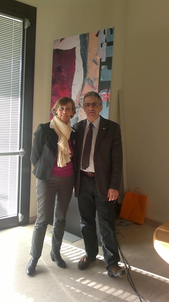 Antonella Valbormida, direttrice Alda, al Consiglio Nazionale Anpas,con Fabrizio Pregliasco