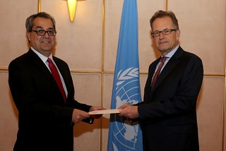 NEW PERMANENT REPRESENTATIVE OF COLOMBIA PRESENTS CREDENTIALS