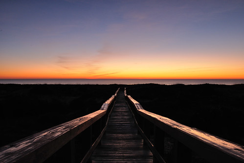 ocean sunrise island dawn florida boardwalk amelia