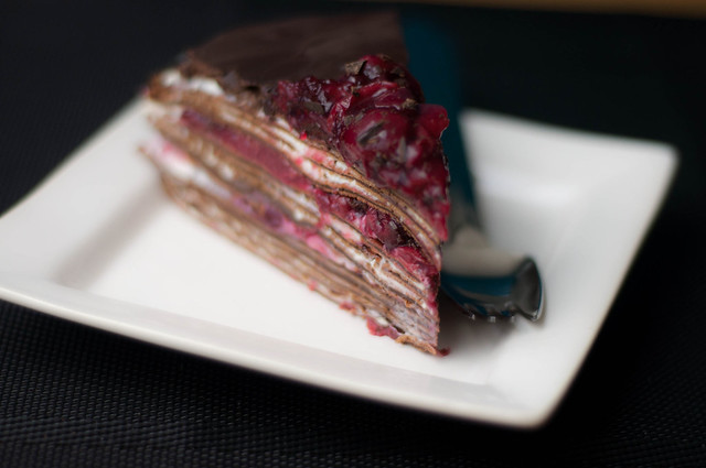 black forest crepe cake