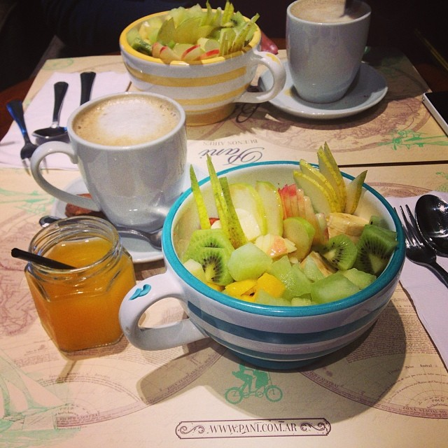 Granola, yogurt, fruit brunch in #pani #buenosaires