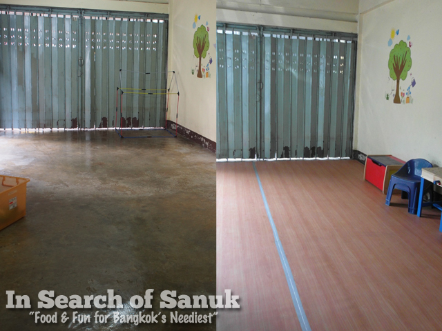 pre-school play room before and after