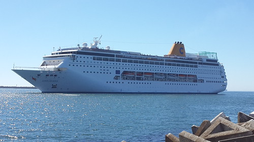 Costa NeoReviera - arriving Cape Town Harbour - 14th March 2014 by chrisLgodden