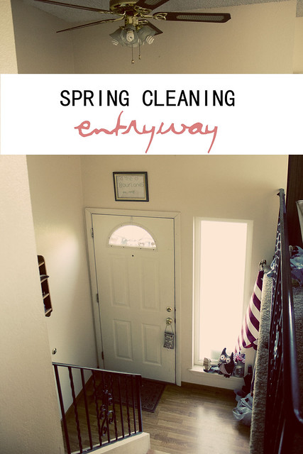 Spring Cleaning Entryway