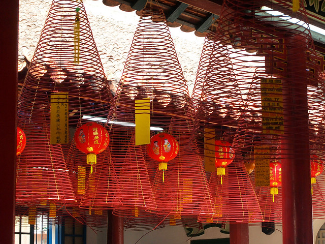 Incense coils for the new year in Vietnam