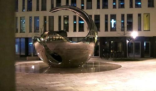 Munich after sunset: modern art.............