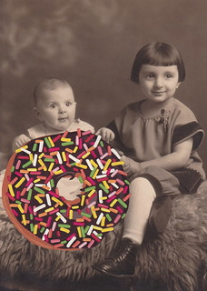Baby Simon and His Sister Simone Hold The World's Largest Doughnut with Sprinkles