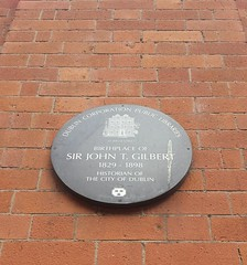 Photo of John T Gilbert brown plaque