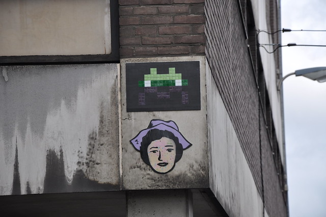 Space Invader in Brussels