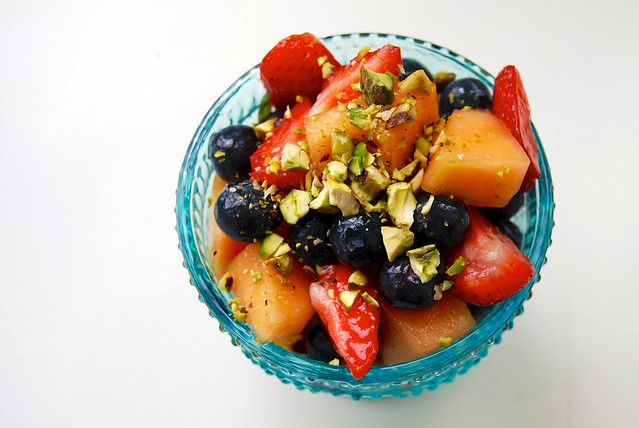 Rose Syrup Fruit Salad 3