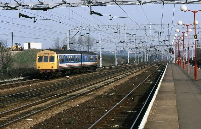 BR Class 101 DMU, Colchester, 31st. March 1989.