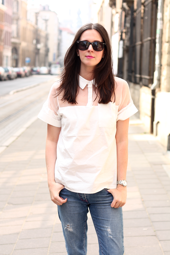 outfit see-through blouse oasap wayfarers