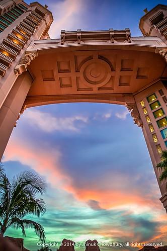 sky cloud building silhouette skyscape hotel construction atlantis highrise nassau cloudscape bahama paradiseislandbahamas