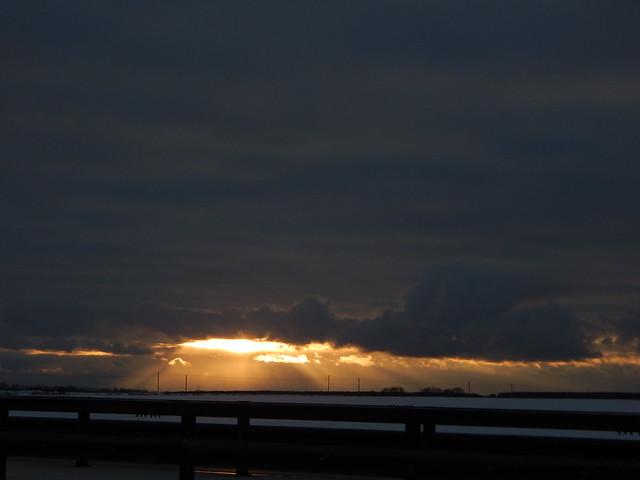 закат над Домодедовским районом