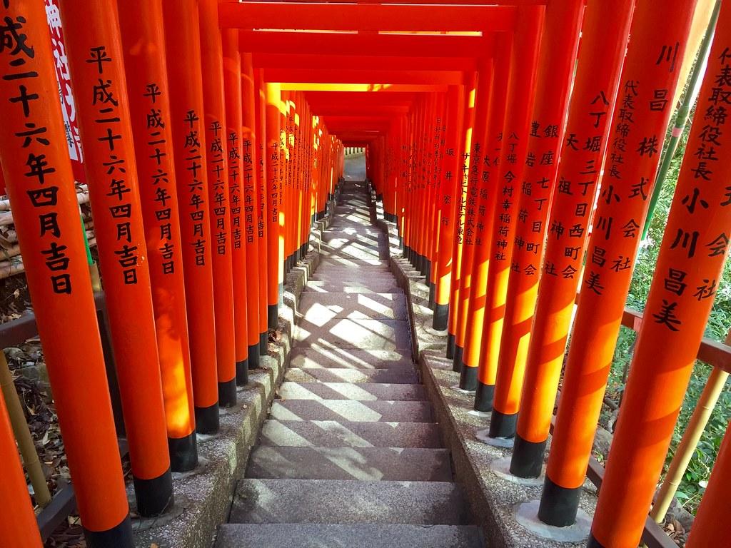 Torii at the Sanno Hie shrine