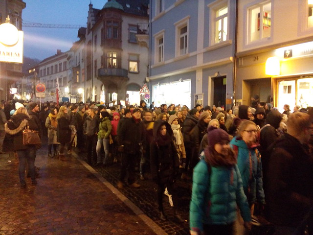 #nopegidafr-Demo in Freiburg