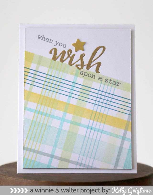 kelly_When You Wish Upon a Star Plaid Card web