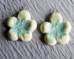 Green Floral Earring Charms 2a