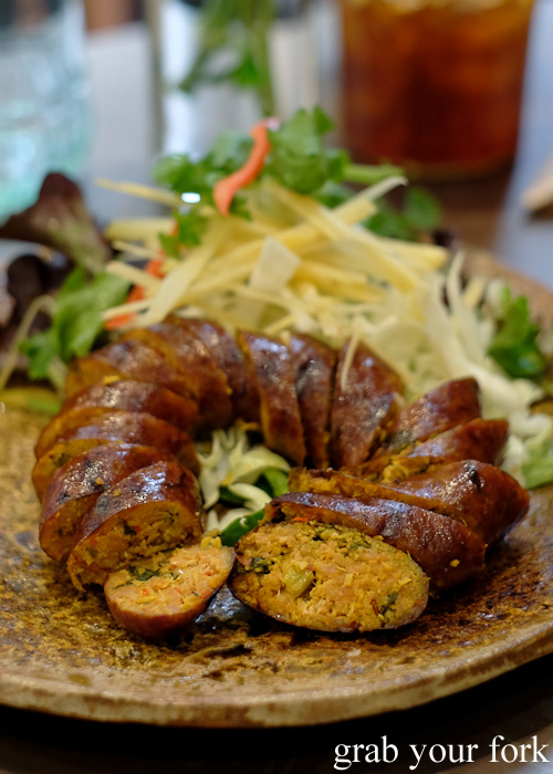 Sai ouah pork sausage by Boon Cafe at Jarern Chai, Sydney