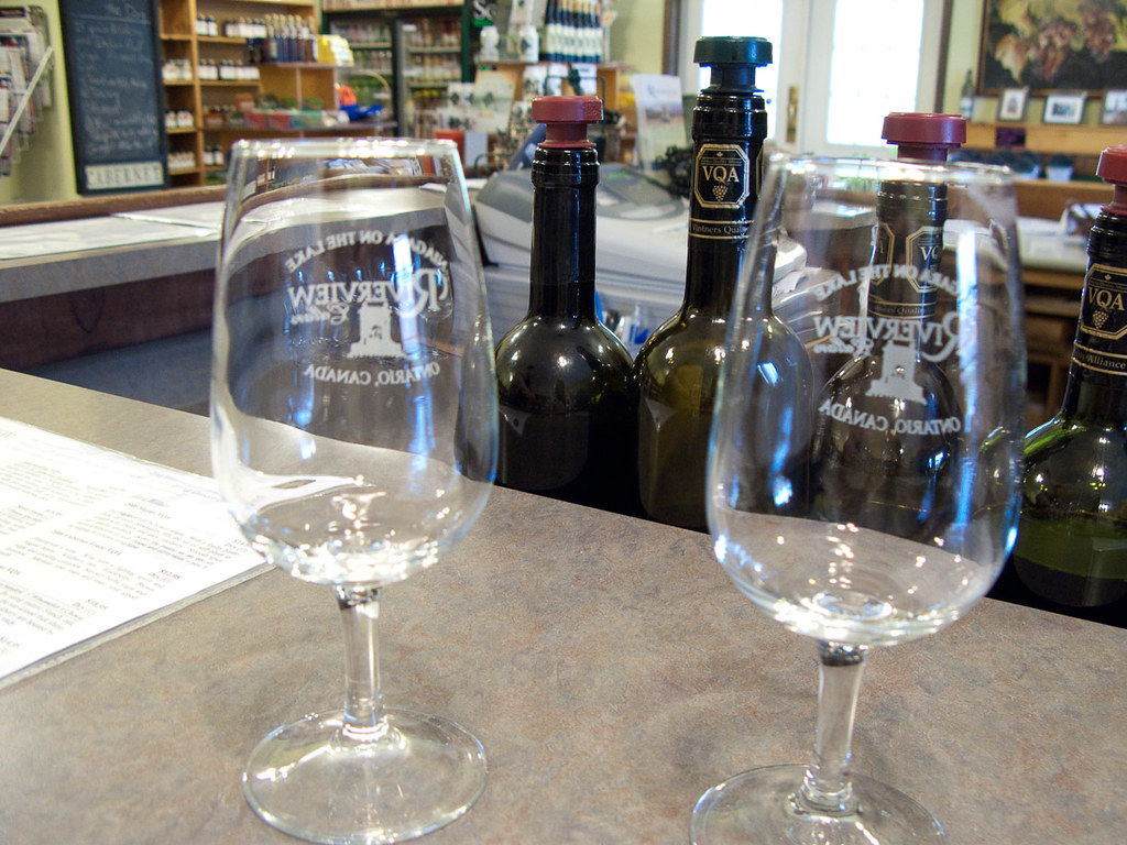 Wine tasting at Riverview Cellars