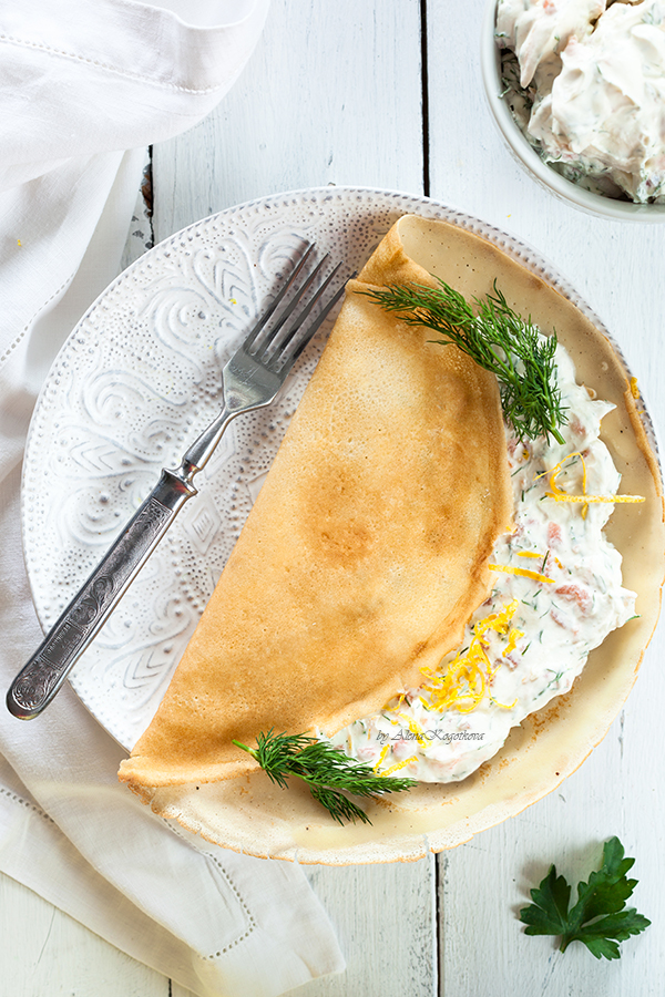 Pancakes with Salmon and Cream Cheese-7