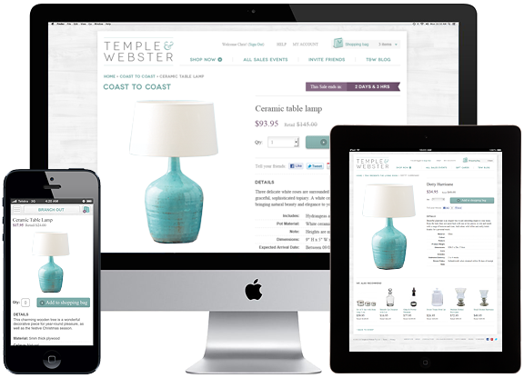 Web-based homewares retailer Temple & Webster hopes to reach $50 million in revenue in 2015