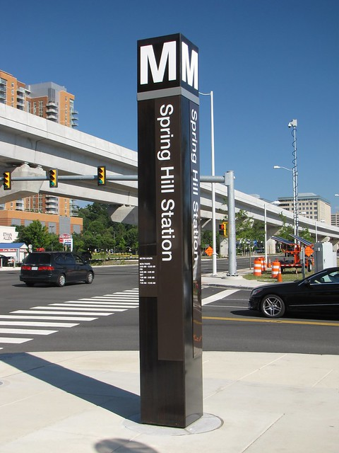 Spring Hill station entrance pylon