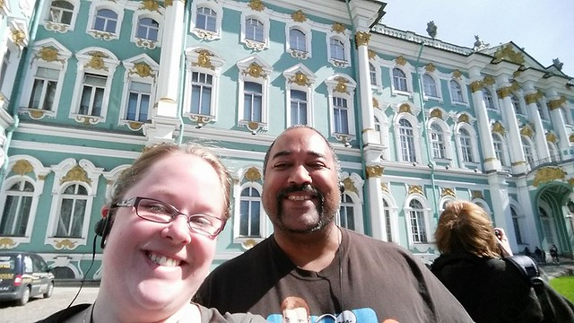 Selfie at the Hermitage, St. Petersburg, Russia