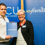 ACUscholarship2016-173 Luke Pearson with Prof. Karen Flowers