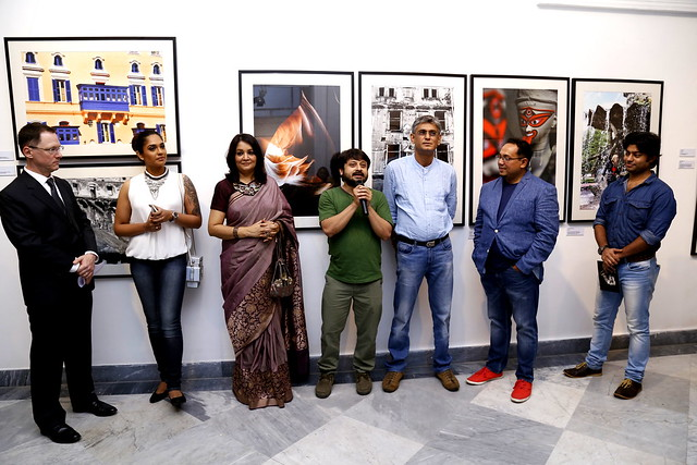 From left to right US Consul general Craig Hall, actor Mumtaz Sorcar, Dr Rupali Basu, Director Shiboprosad Mukherjee, Producer Atanu Raychaudhuri, Kounteya Sinha and RJ Roy (2)