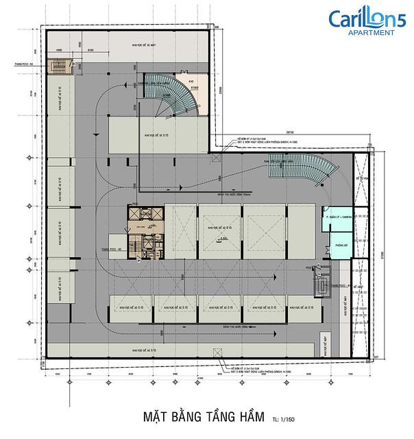 Mặt bằng tầng hầm dự án Carillon 5 Tân Phú