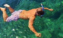 Swimming with the fish at Xatt l'Ahmar, Gozo. Photo by Marg