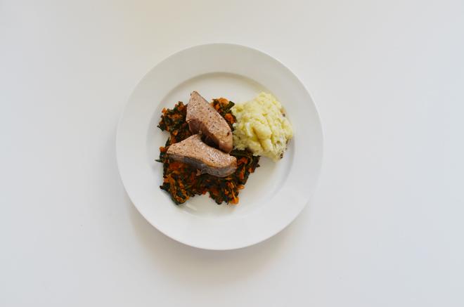 kale and tuna