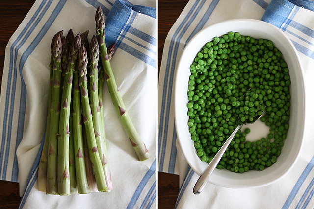 spring peas + asparagus