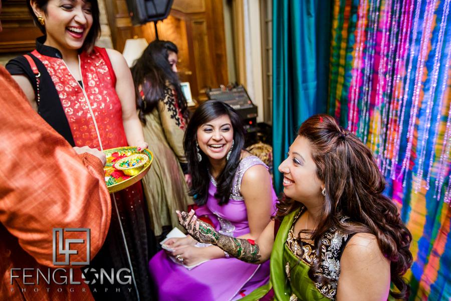 Indian Isamili bride greeting guests