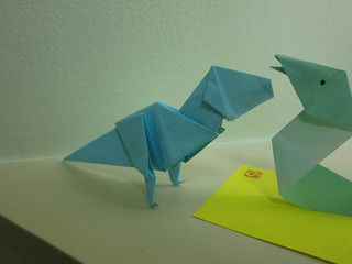 Oragami T-Rex at our Ryokan in Sapporo