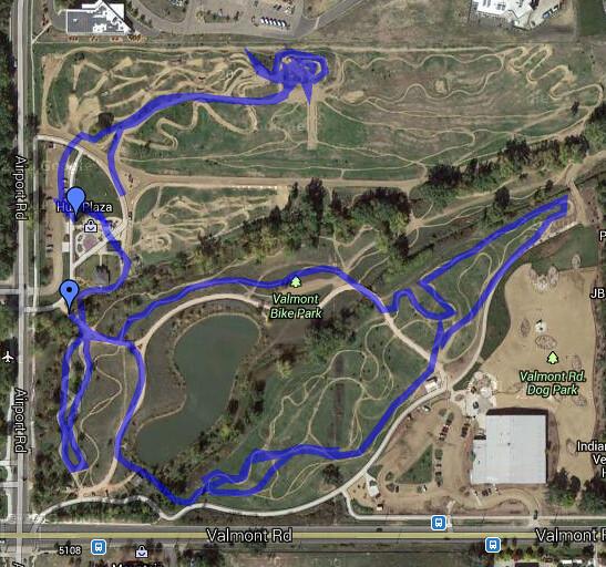 Route - Mountain Biking - Valmont Bike Park, Boulder CO
