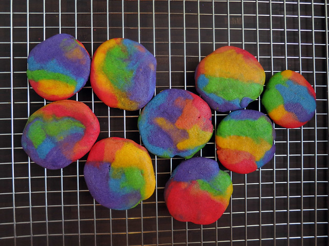 tie-dye scrap cookies