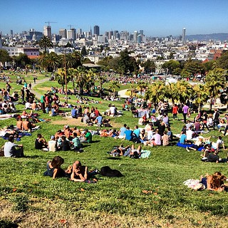 Busy day at Dolores Park