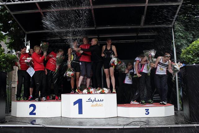 Team podium vrouwen