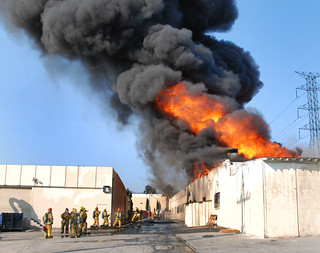 Massive Blaze Causes $2.5M Damage to Sun Valley Industrial Firm © Photo by Mike Meadows. Click to view more...