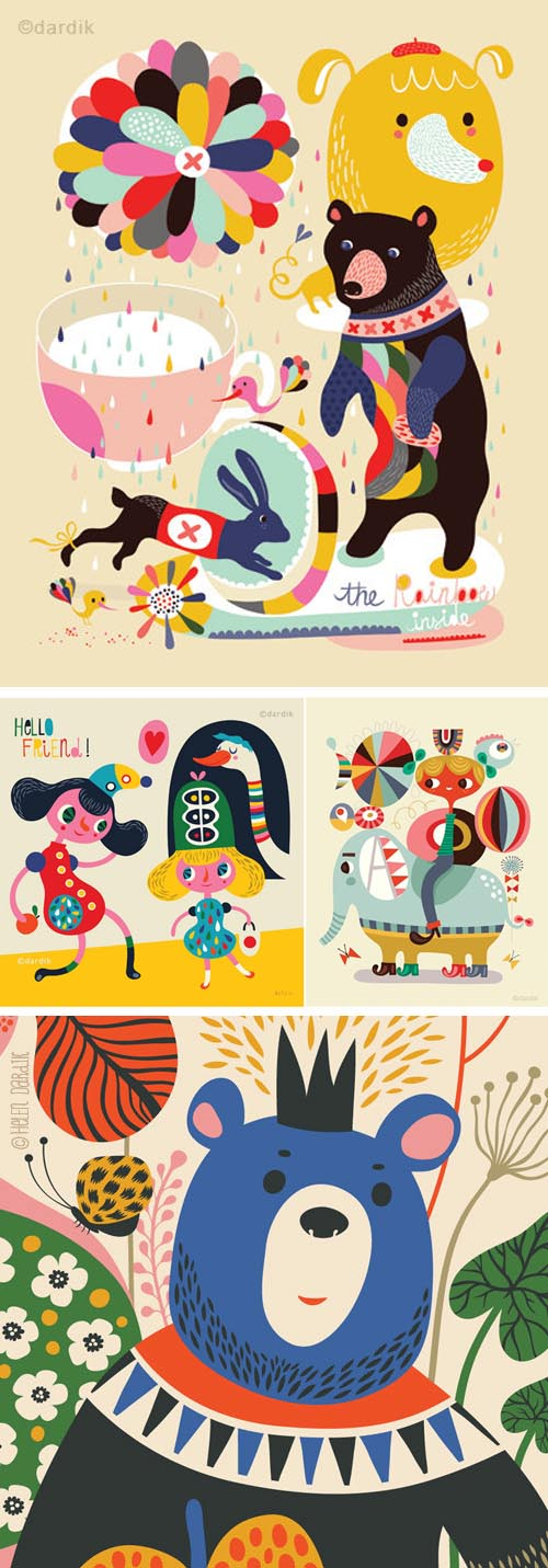 Helen Dardik Illustrations - assorted
