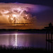 Lightning Strike over Lake Minneola by p simmons
