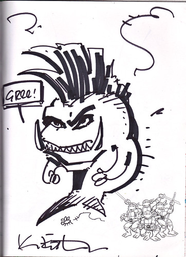 """FRUSTRATED XEVER; FAST FISHFACE"" by Kevin Eastman (( 2013 ))"