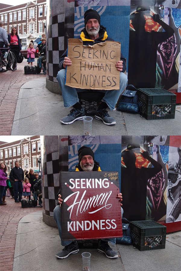 letreros para los vagabundos