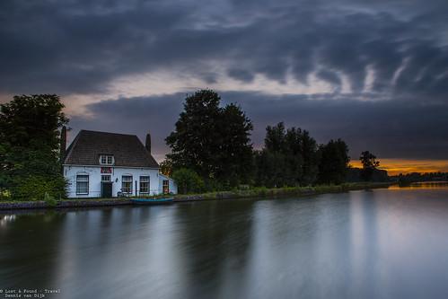 rotterdam overschie rotjeknor le long night landscape rain storm sunset dusk canon 5d water river flowing cloudporn exposure longexposure bluehour goldenhour nederland netherlands