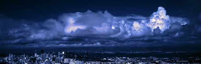 A moment in San Francisco #36-Dark Storm Leaving 2